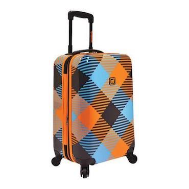Blue and Orange Hardside Luggage