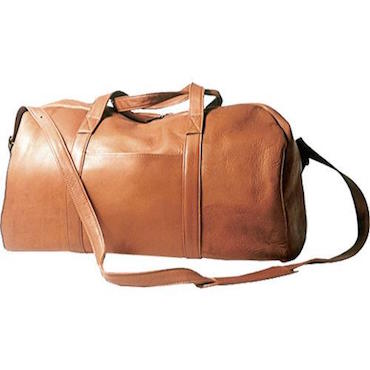 Tan Leather Duffel Bag