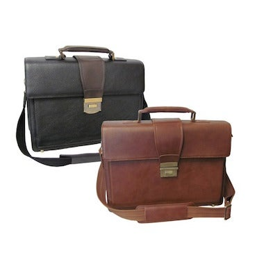 Brown and Black Leather Briefcases