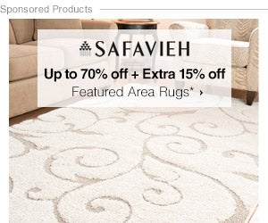 Up to 70% off Extra 15% off Featured Area Rugs*