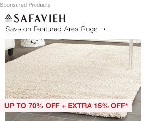 Up to 70% off + Extra 15% off Featured Area Rugs by Safavieh*