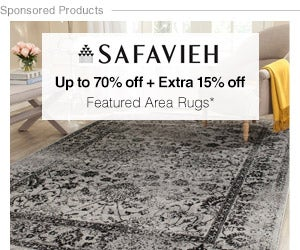 Up to 70% off + Extra 15% off Featured Furniture by Safavieh*