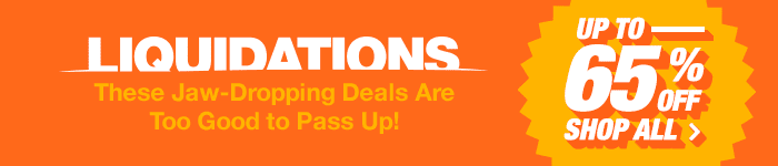 Liquidations. Up to 65% off. Shop All.