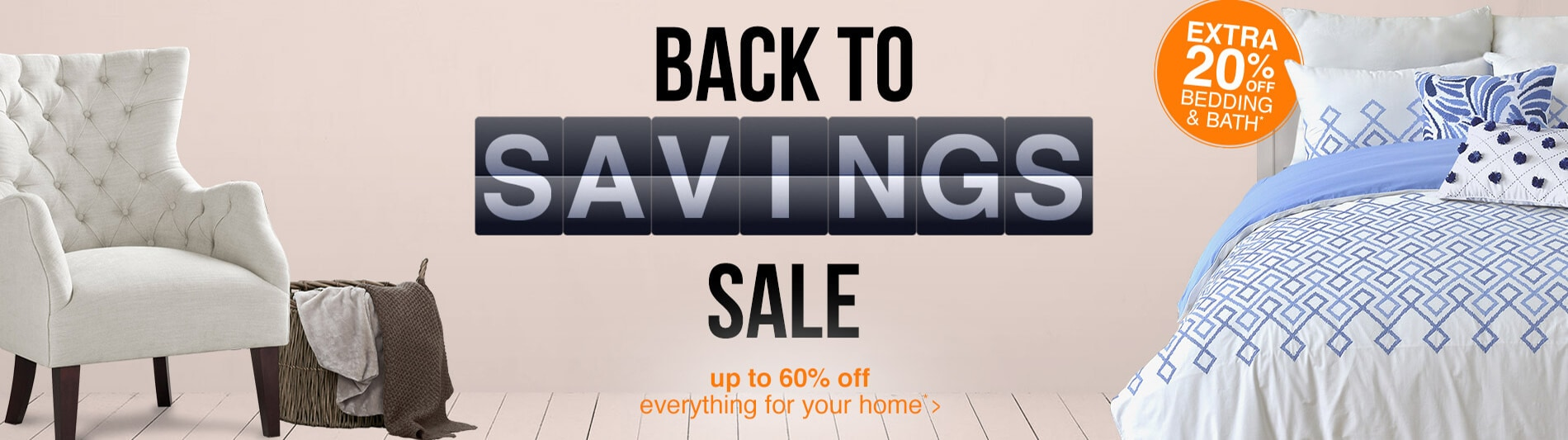 Back to Savings sale banner - Up to 60% off*