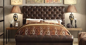 Moser Bay Furniture Calia Queen High Rolled Upholstered Bed with High Profile Footboard