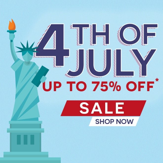Up to 75% off 4th of July*