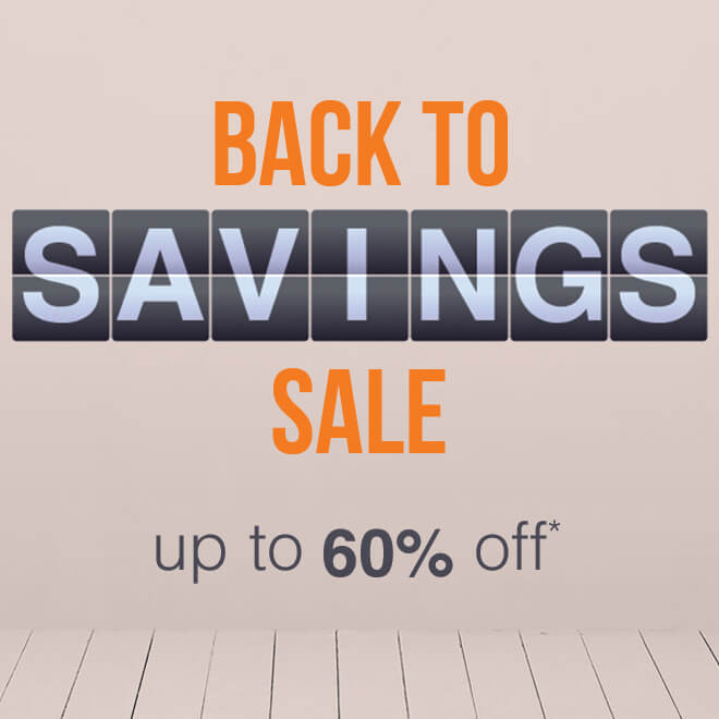 Up to 60% off Back To Savings*