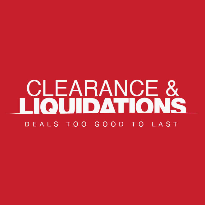 Up to 75% off Clearance & Liquidations*