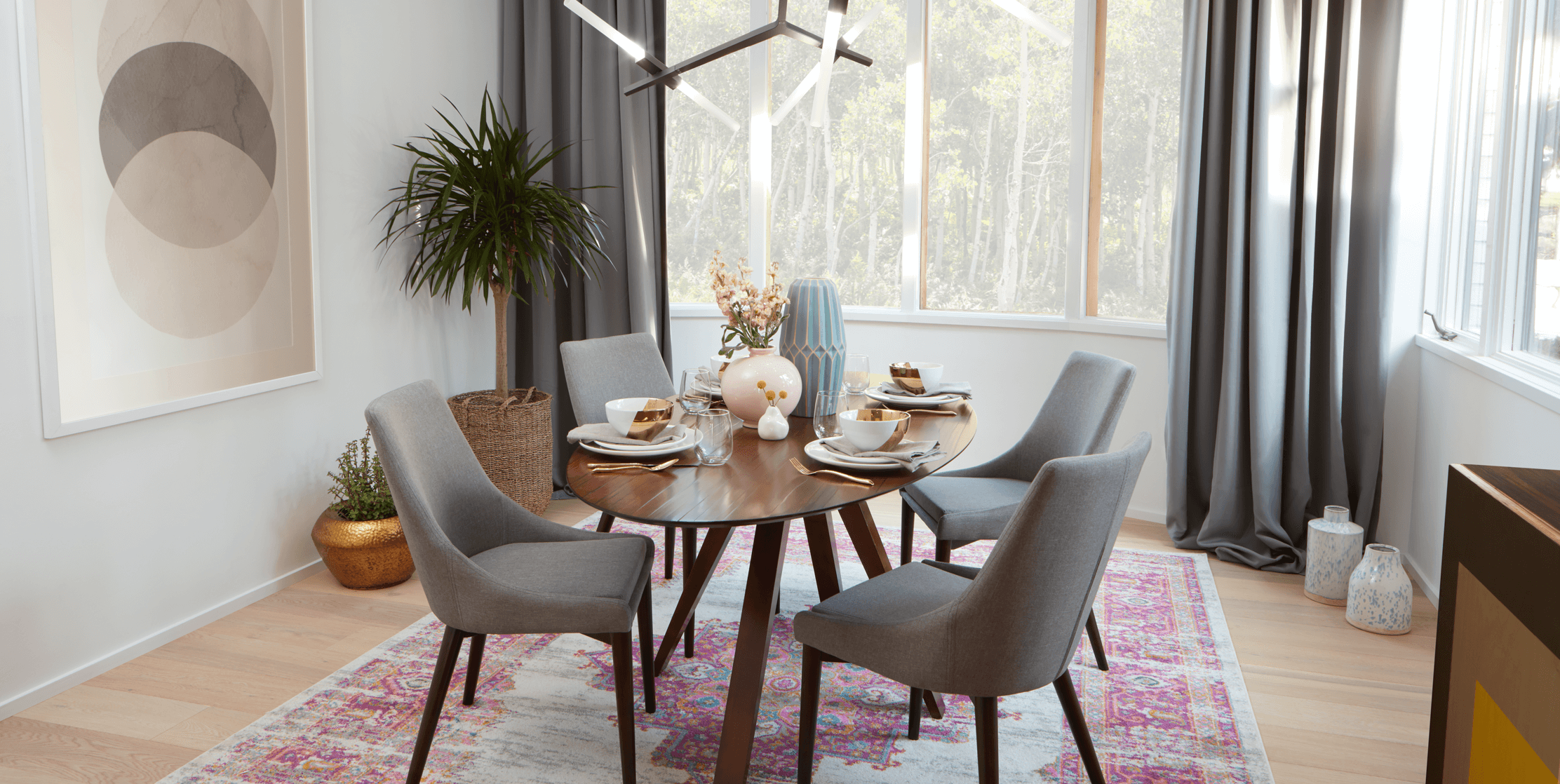 A breakfast nook styled and inspired by interior designer At Home with Ashley
