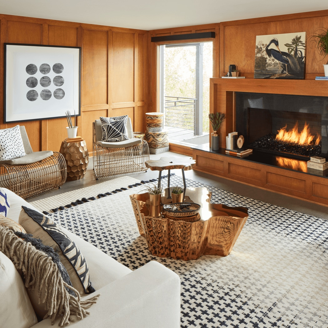 A living room that is styled and inspired by interior designer Old Brand New