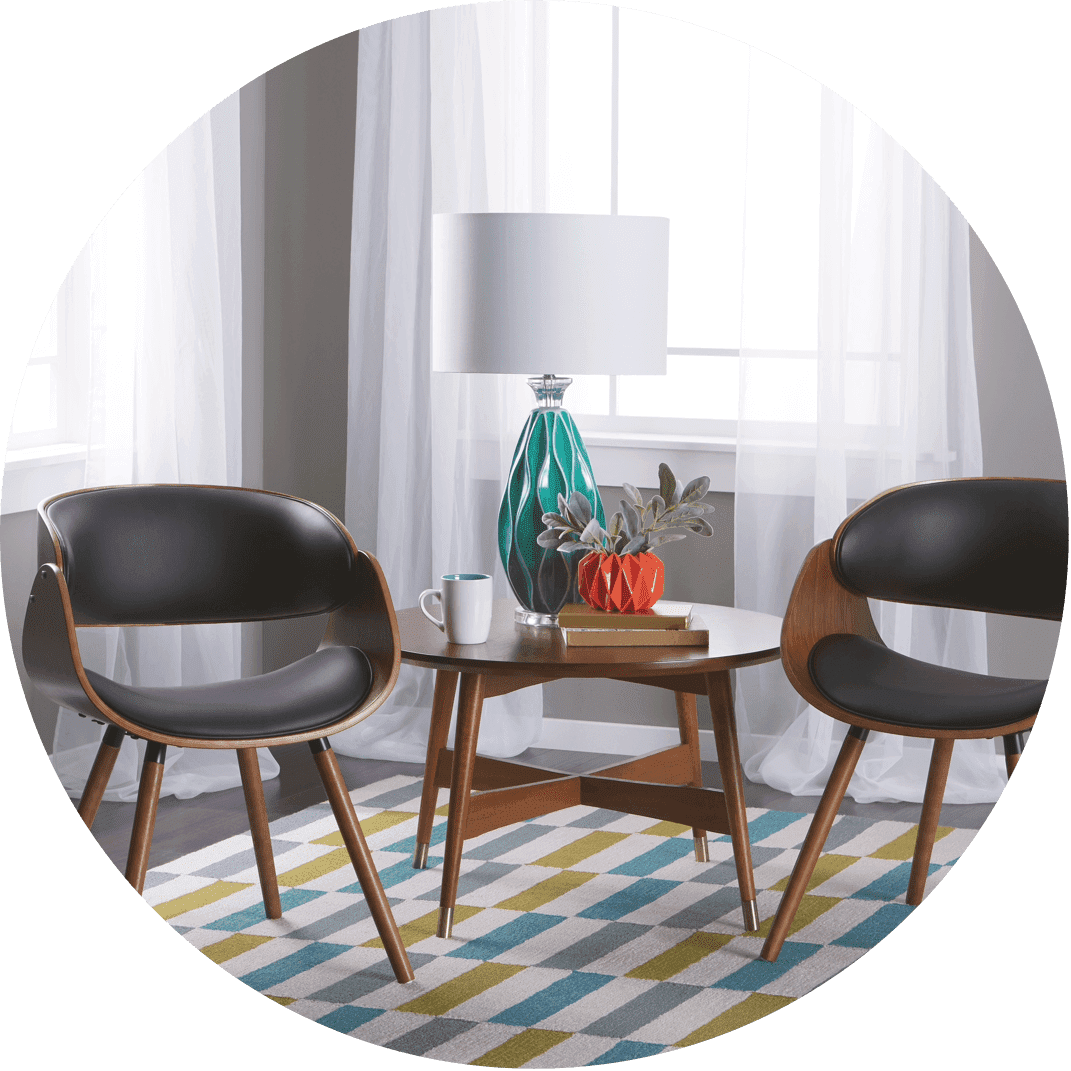 A retro mid-century modern coffee table, perfect for the person who loves the mid-century vibe