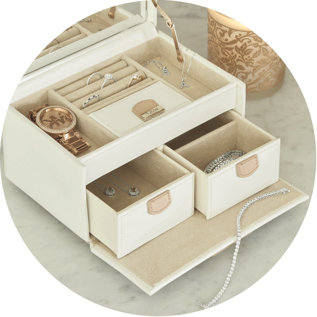 A jewelry box filled with jewelry for her