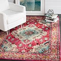 Safavieh Monaco Bohemian Medallion Pink/ Multicolored Distressed Rug (4' x 5' 7)