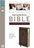 Holy Bible: New International Version Brown Italian Duo-Tone Thinline Reference Bible (Paperback)