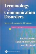 Terminology of Communication Disorders: Speech-Language-Hearing (Hardcover)