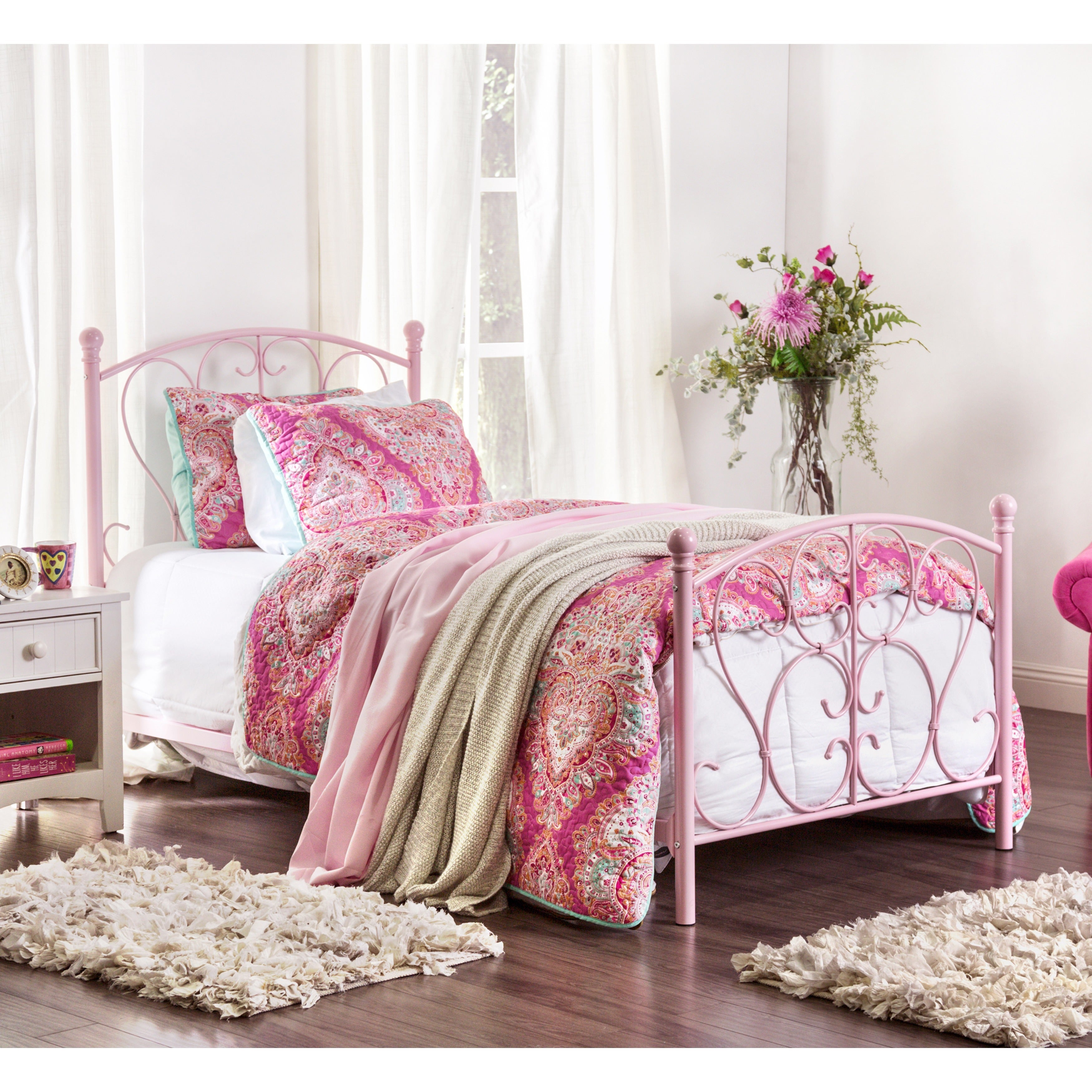 Shop Furniture Of America Bridelle Princess Style Metal Twin Bed