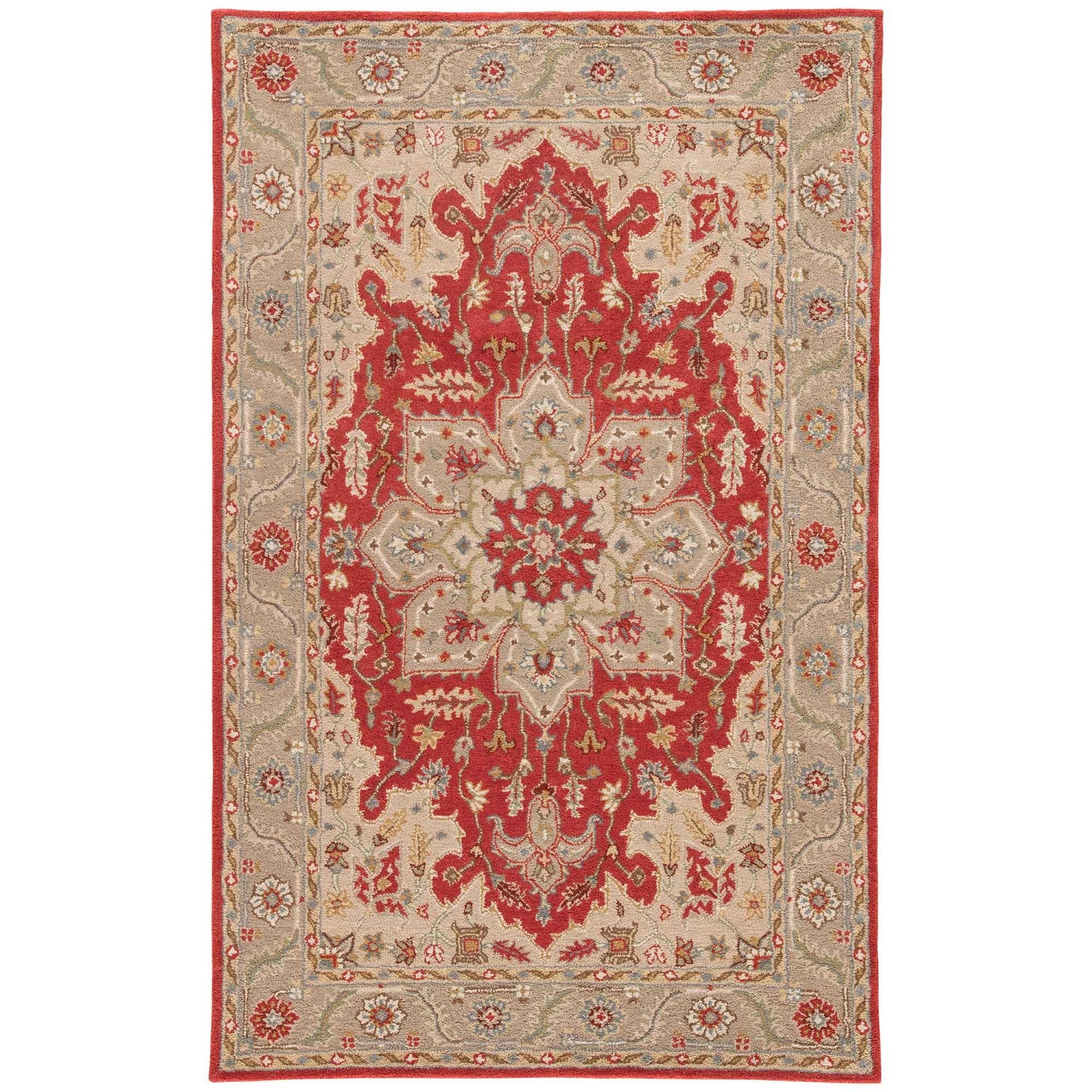Sage Handmade Medallion Red Gray Area Rug 2 X 3 On Free Shipping Today 10002594
