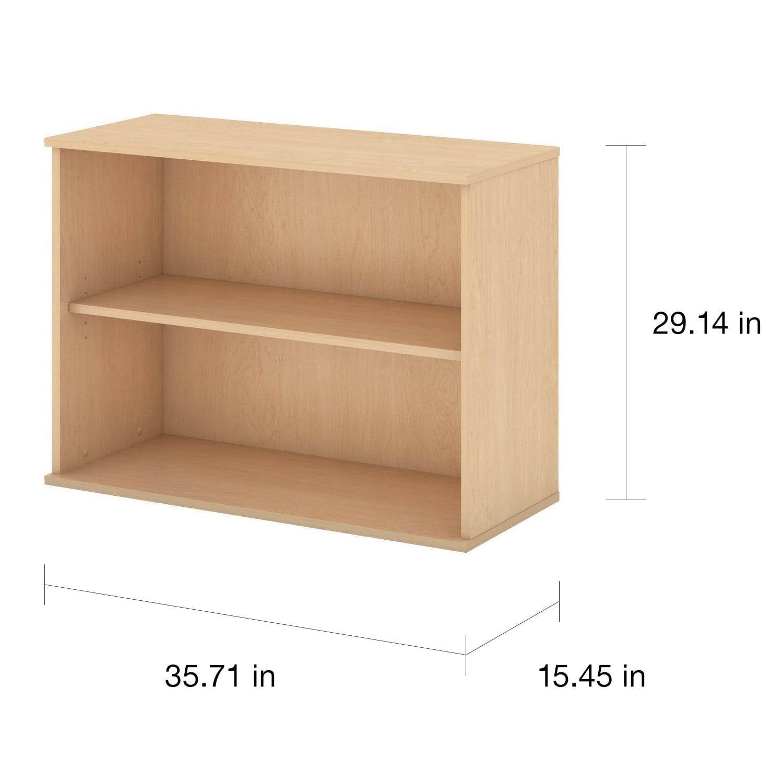 pin furniture cherry business bookcase adjustable shelf bush hansen