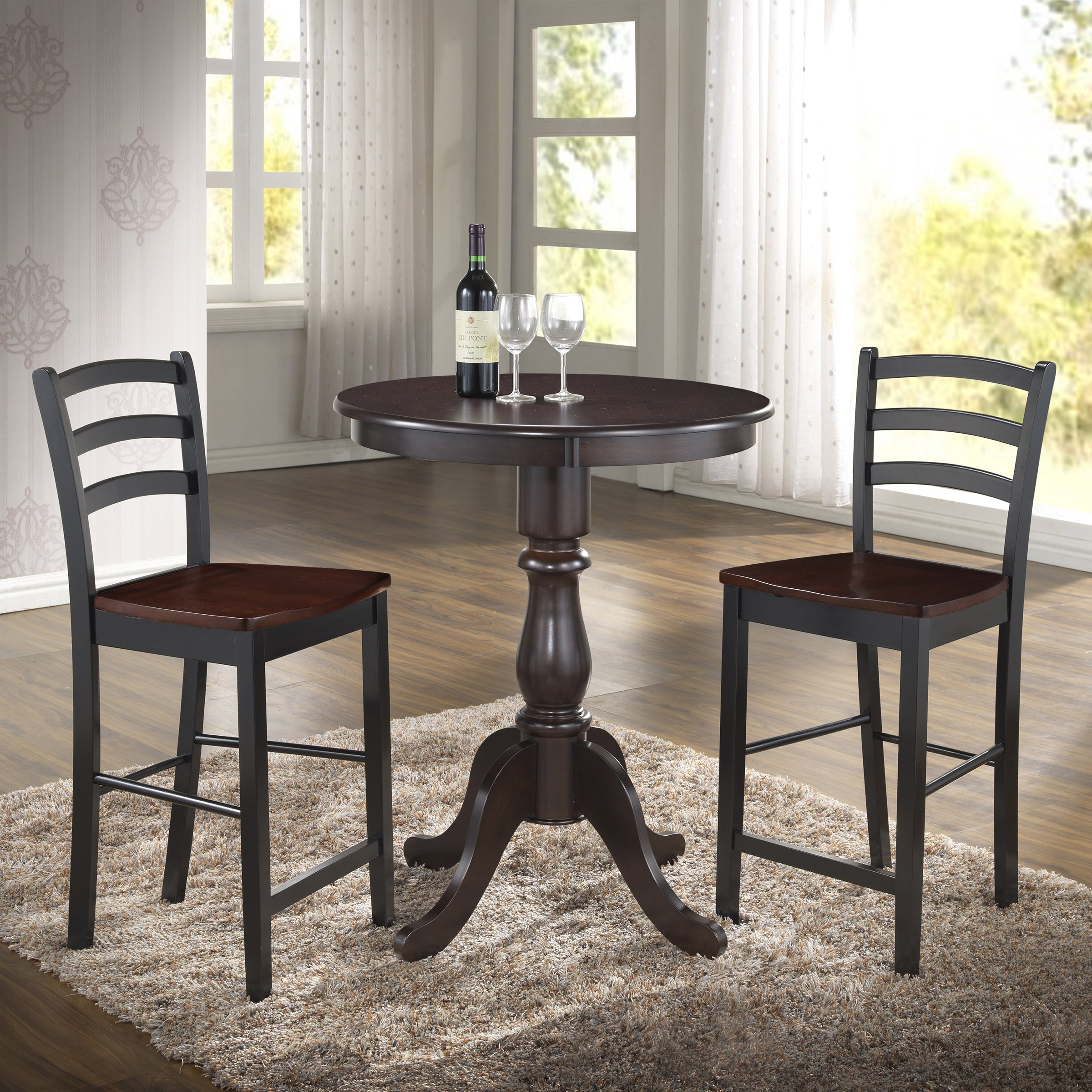 table kitchen inch tables pin armless pedestal chairs round for rustic ideas with exciting wood