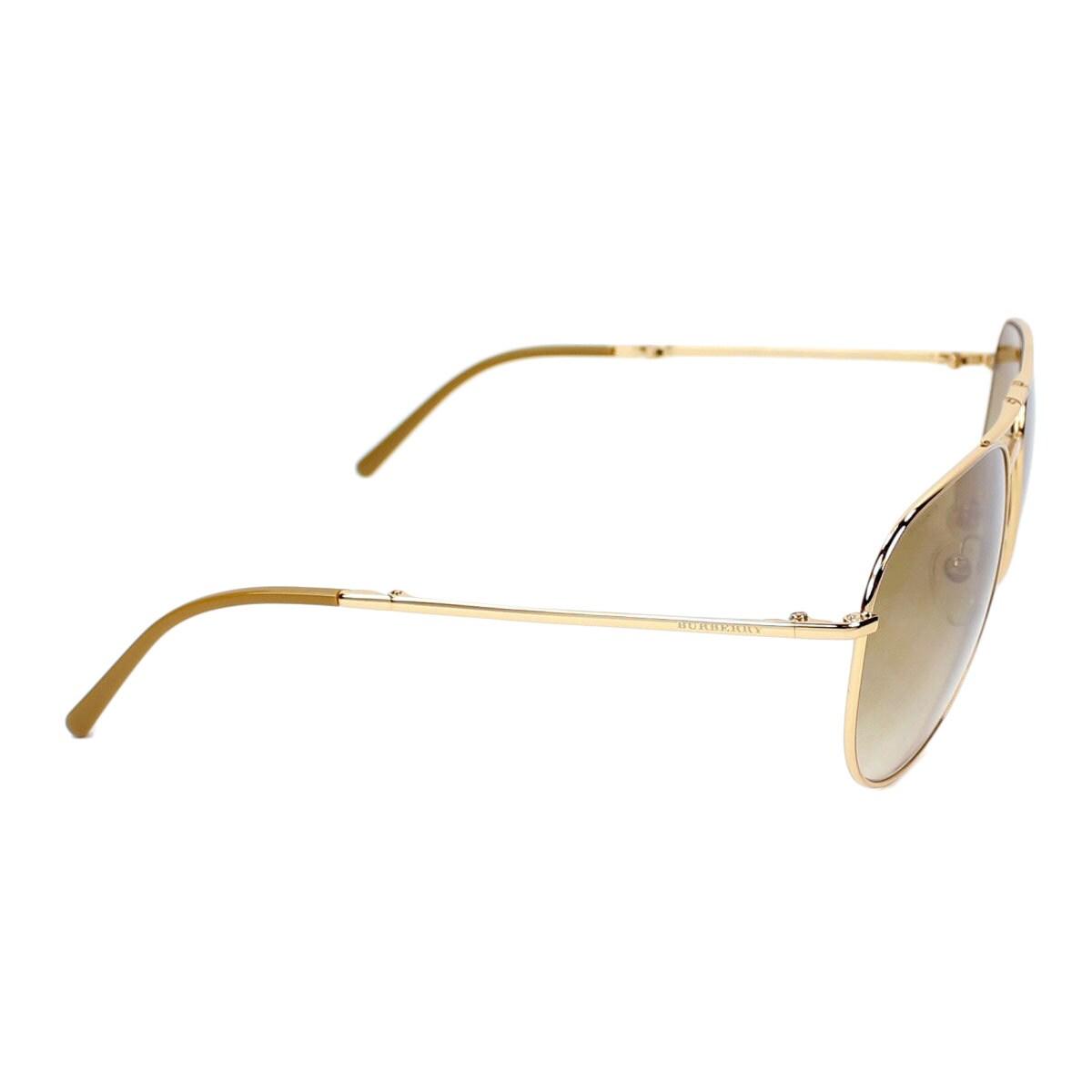 979225673d9c ... Burberry Men s BE3071 Metal Aviator Sunglasses Gold Large Shop Burberry  Men s BE3071 Metal Aviator Sunglasses Gold Large Free Shipping Today  Overstock ...