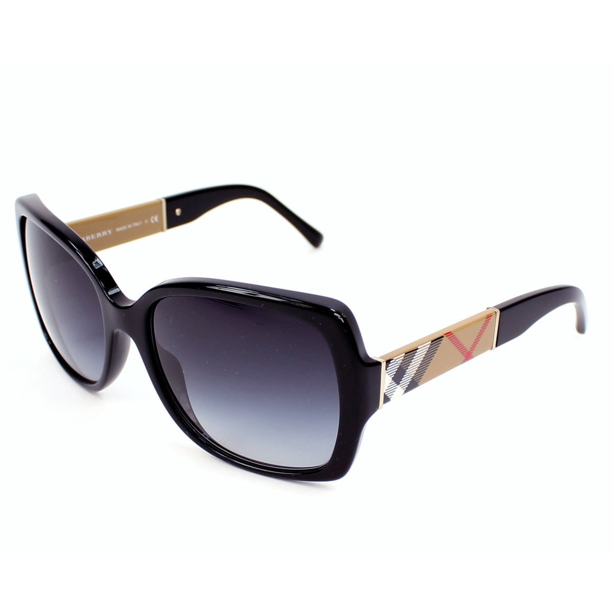 082a86e509 Shop Burberry Women s BE4160 34338G Black Square Sunglasses - Large ...