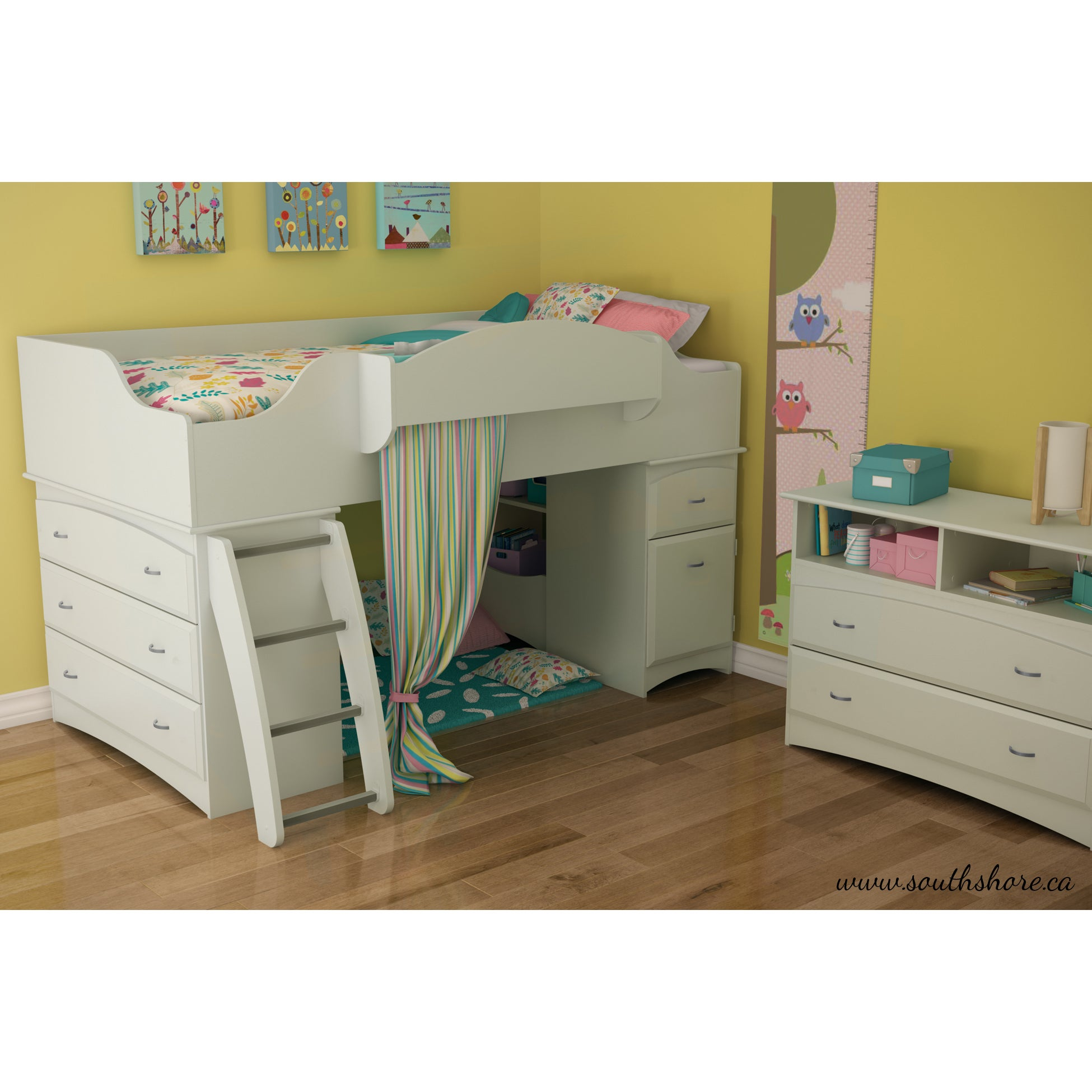 Shop South Shore Imagine Twin Loft Bed Free Shipping Today