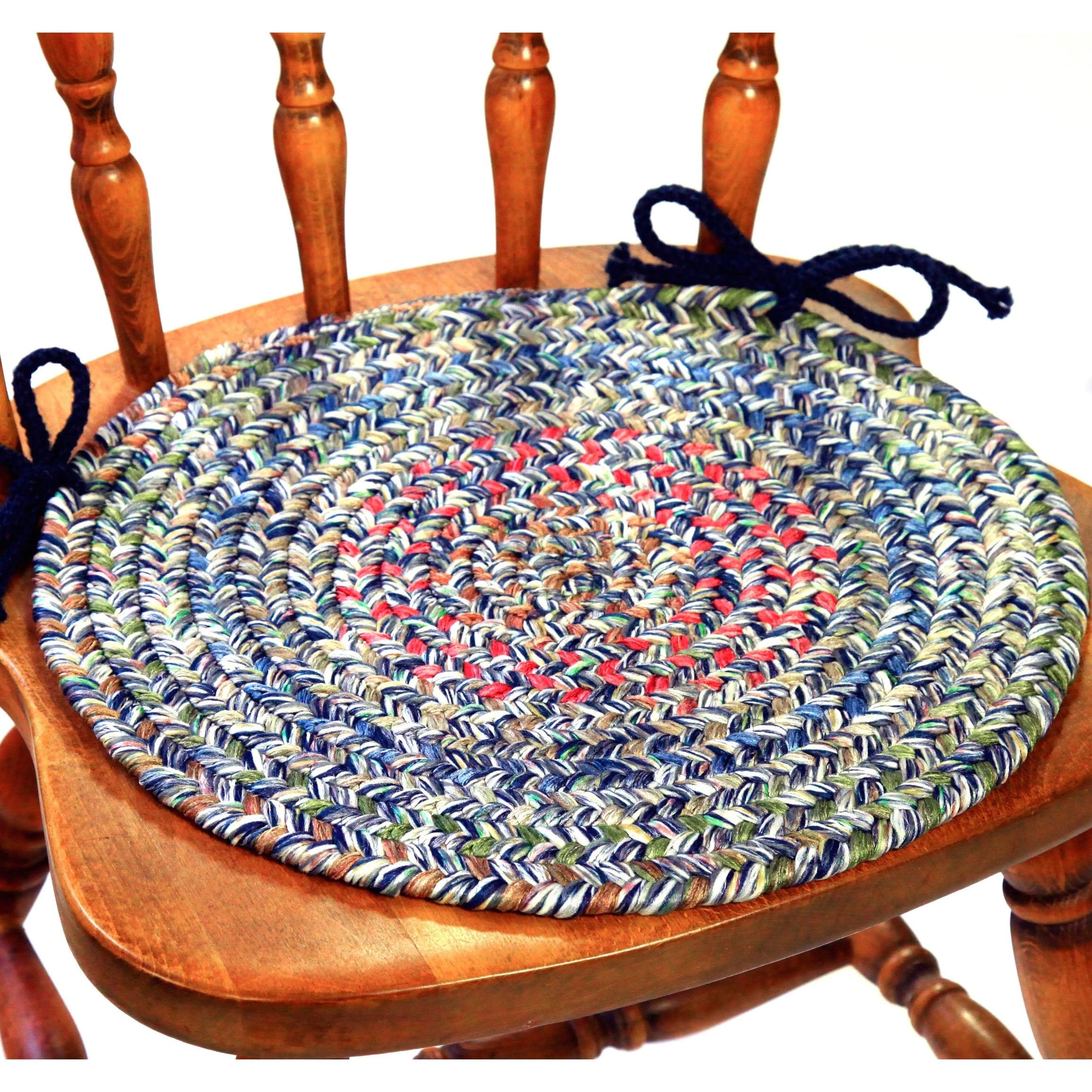 shop rhody rug sophia 4 piece braided reversible chair pad set
