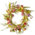 24-inch Easter Wreath with Candy Eggs and Butterflies