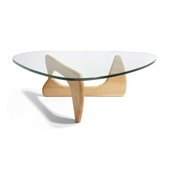 Mod Made Mid Century Modern Tribeca Tempered Glass Top Coffee Table