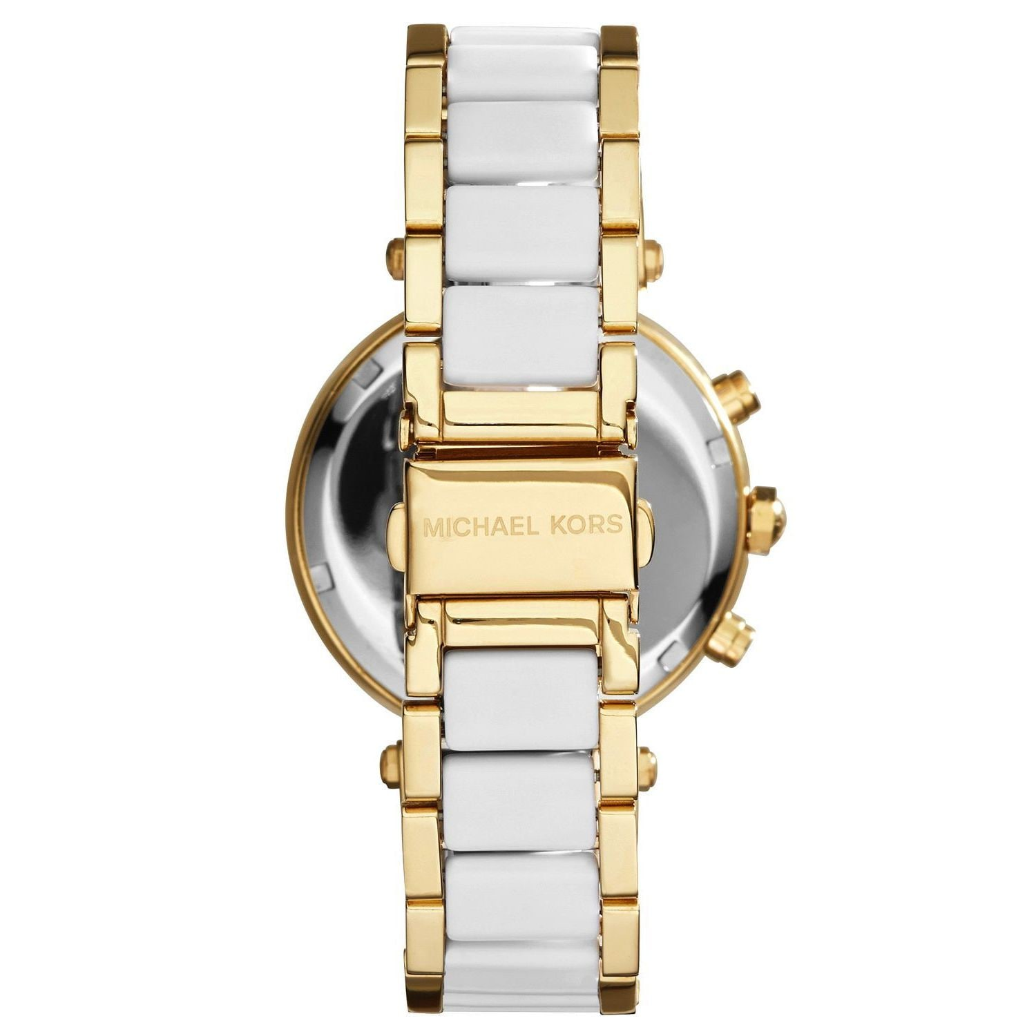 f730a282b59c Shop Michael Kors Women s MK6119  Parker  Chronograph Two tone Stainless  Steel Watch - Free Shipping Today - Overstock - 10013142