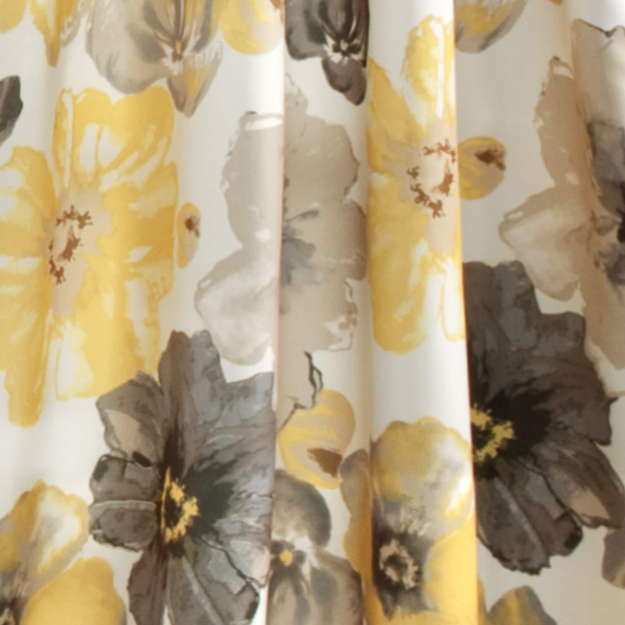 Shop Lush Decor Leah Floral Room Darkening Curtain Panel Pair   Free  Shipping Today   Overstock.com   10013908