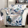 Lush Decor Floral Paisley Armchair Furniture Protector Slipcover