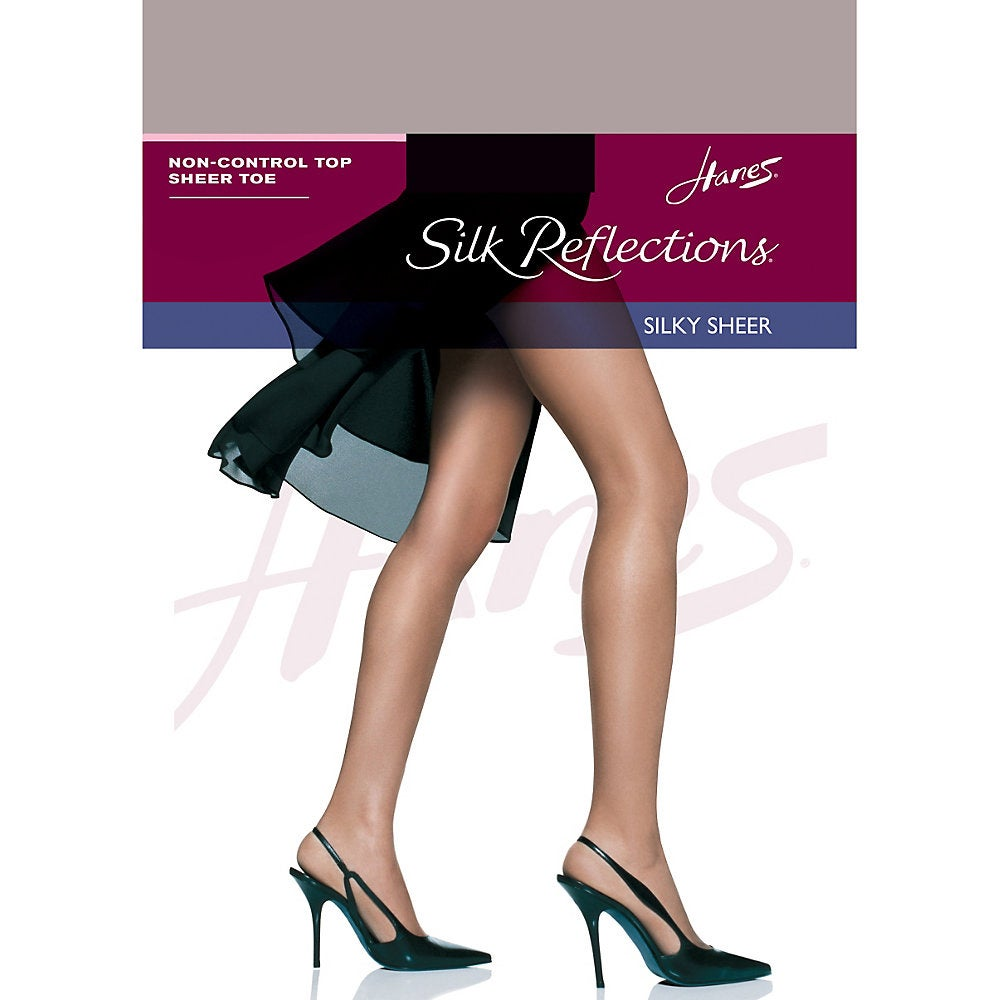 3607be546 Shop Hanes Silk Reflections Non-Control Top Sheer Toe Pantyhose ...