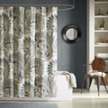 Ink+Ivy Mira 100-percent Cotton Printed Blue Shower Curtain
