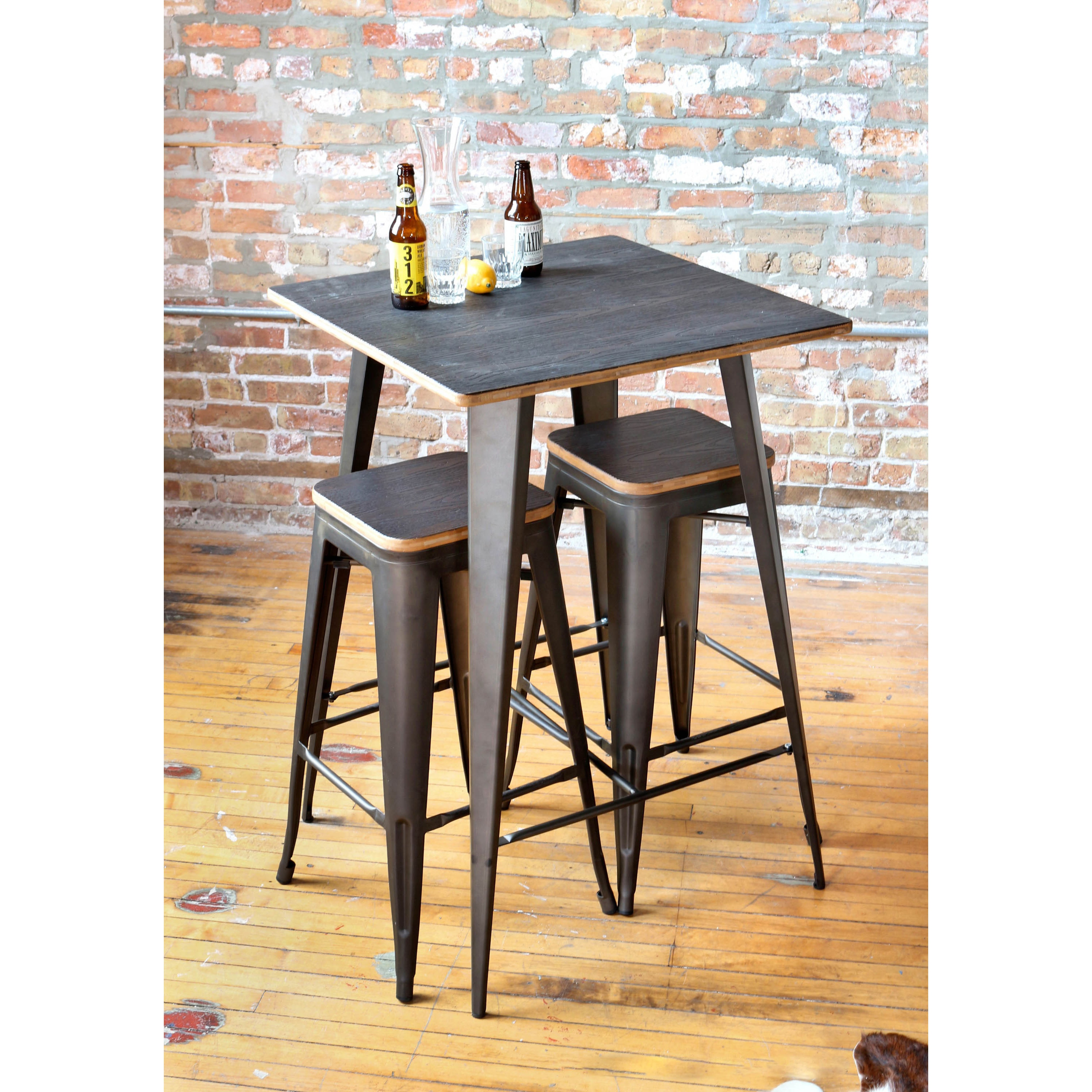 Oregon Rustic 3 piece Pub Set Free Shipping Today Overstock