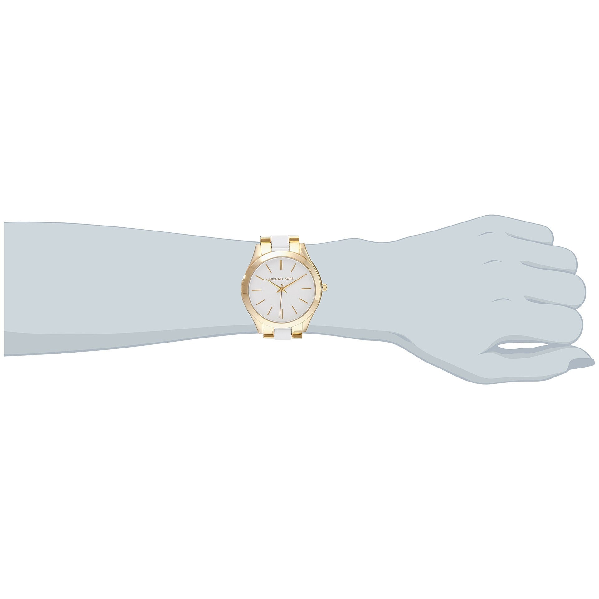 84959c3a13da Shop Michael Kors Women s MK4295  Slim Runway  Two tone Stainless Steel  Watch - Free Shipping Today - Overstock - 10018749
