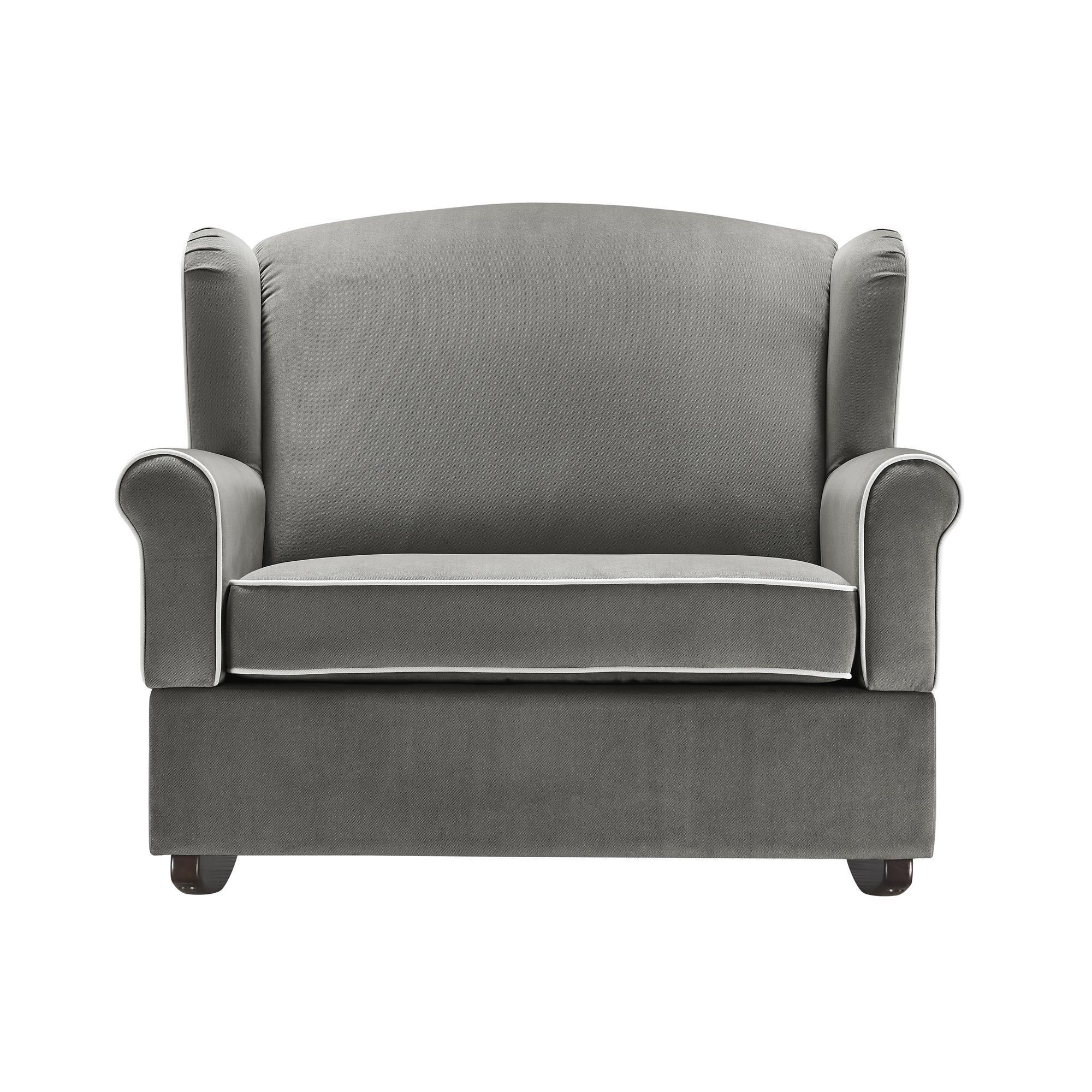 Shop Avenue Greene Tori Graphite Grey Wingback Chair And Rocker   On Sale    Free Shipping Today   Overstock.com   20186922
