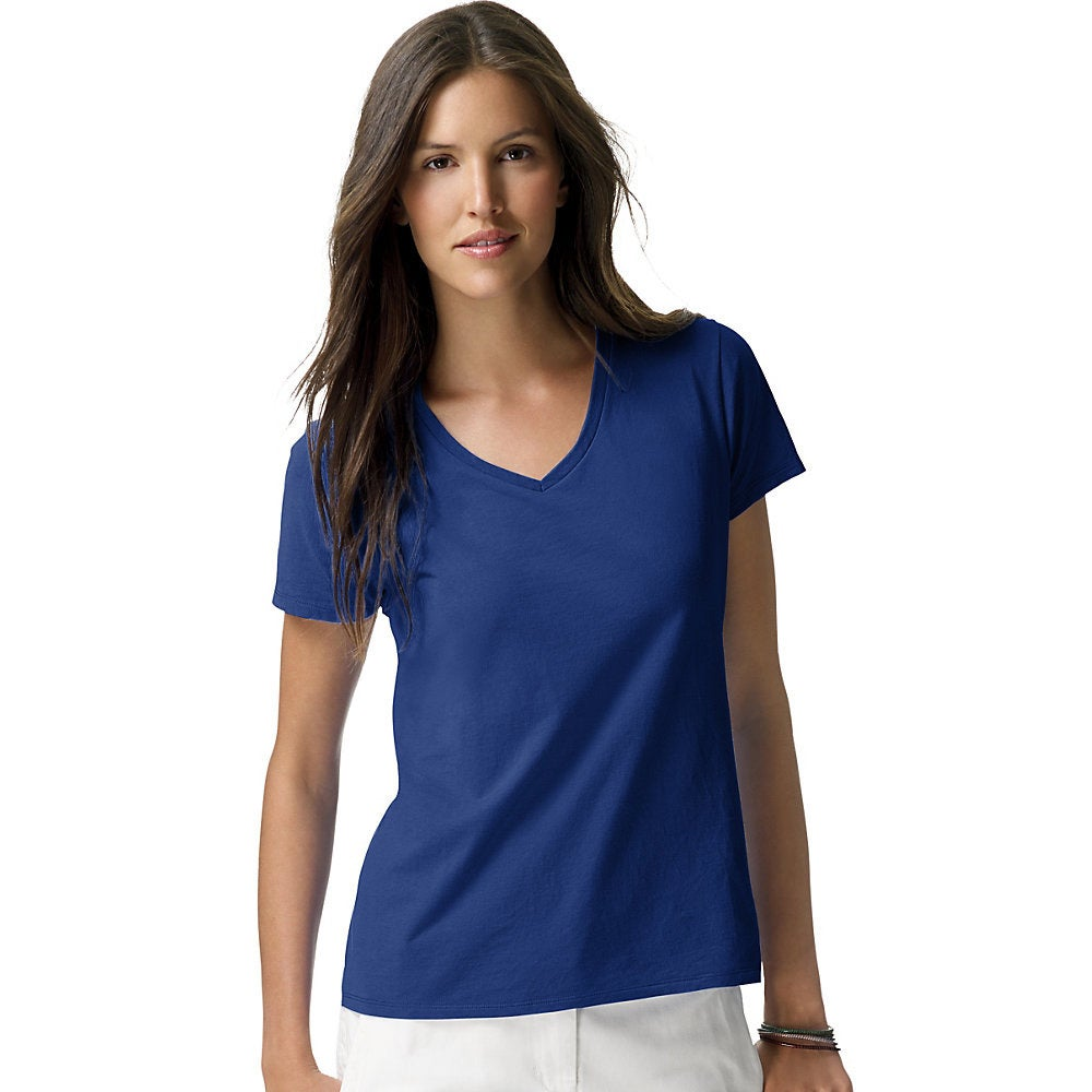 080c5a52769 Shop Hanes Women s Nano-T V-Neck T-Shirt - Free Shipping On Orders Over  45  - Overstock - 10020025
