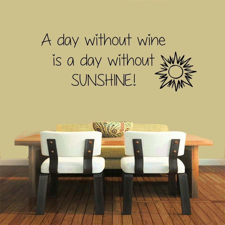 Shop Quote abou Wine Sticker Vinyl Wall Art - Free Shipping On ...