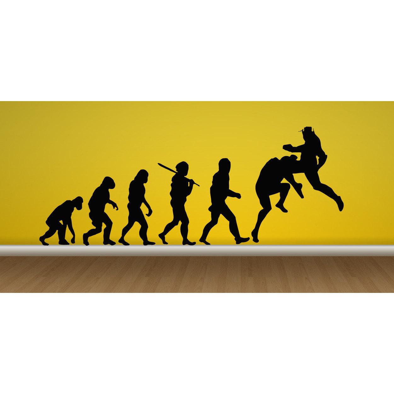 MMA Martial Arts Fighting Cage Evolution Sticker Vinyl Wall Art ...
