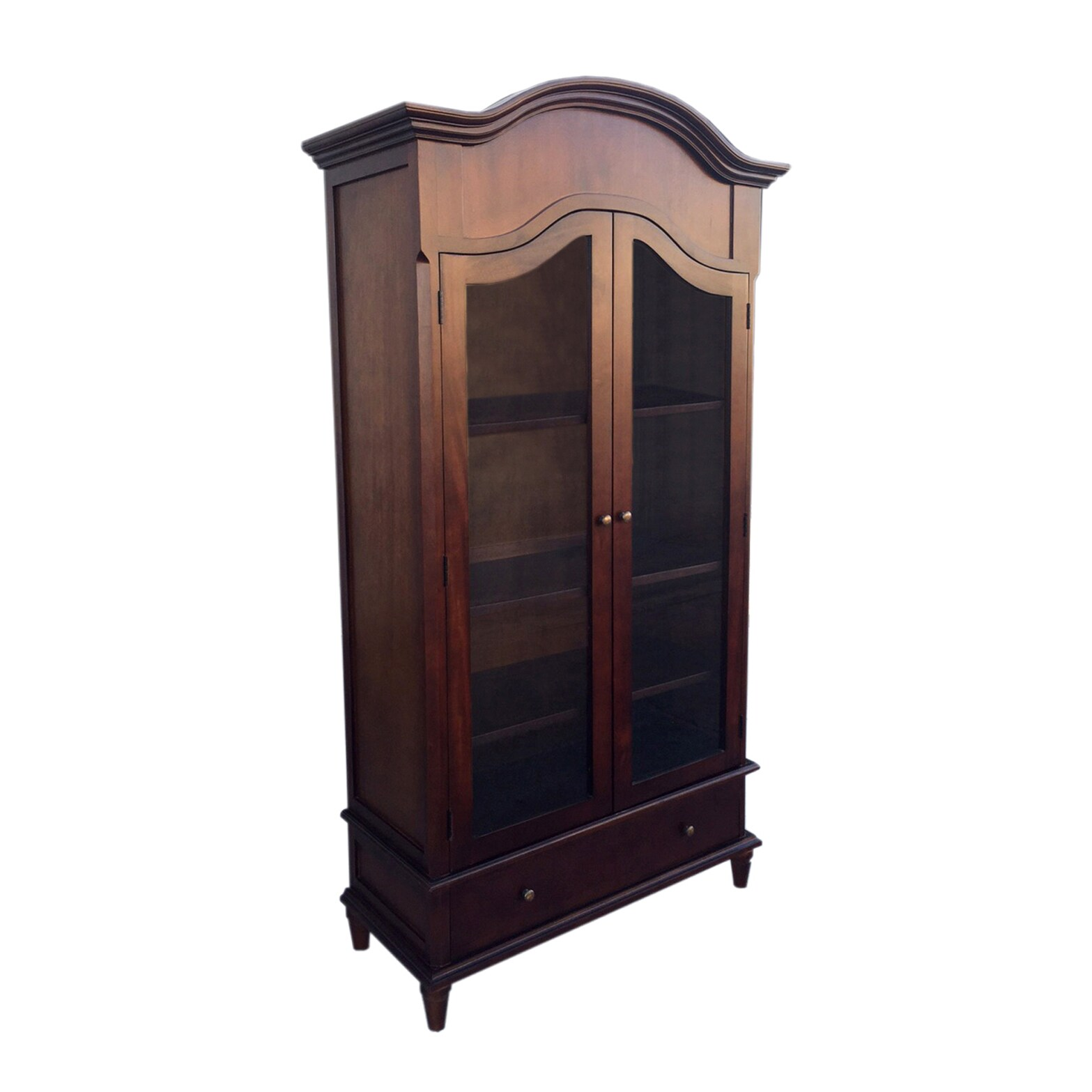 Handmade D Art Rococo Mahogany Wood And Glass Armoire (Indonesia)   Free  Shipping Today   Overstock   17170457