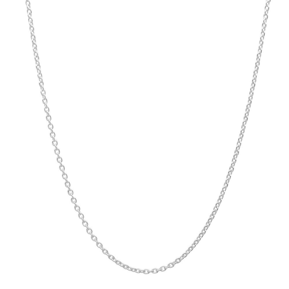 Shop Pori Italian Sterling Silver Cable Chain Necklace - On Sale - Free  Shipping On Orders Over  45 - Overstock - 10024307 9ab4203c8881