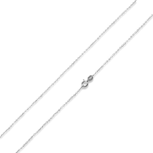 inch chain mens fosir stainless silver necklace cable steel womens rolo