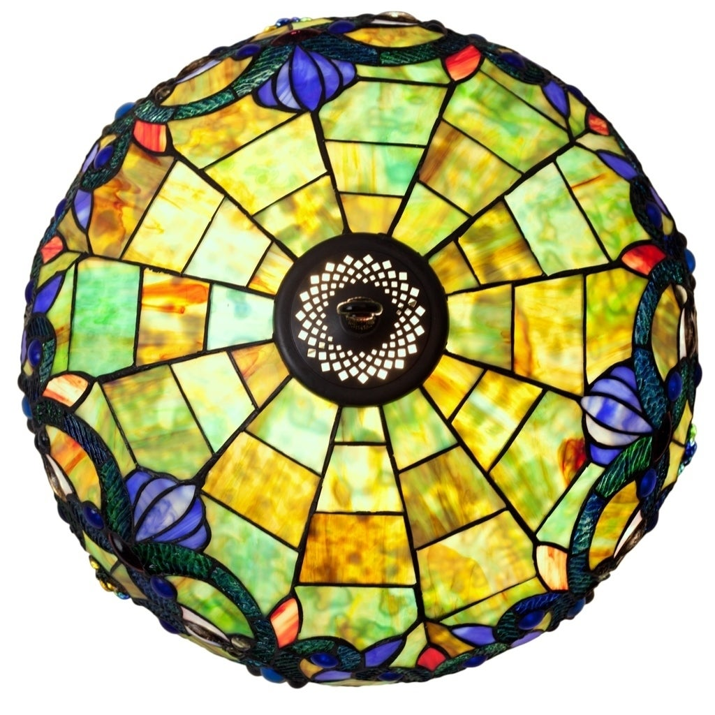Shop River of Goods 26-inch Tiffany Style Stained Glass Victorian ...