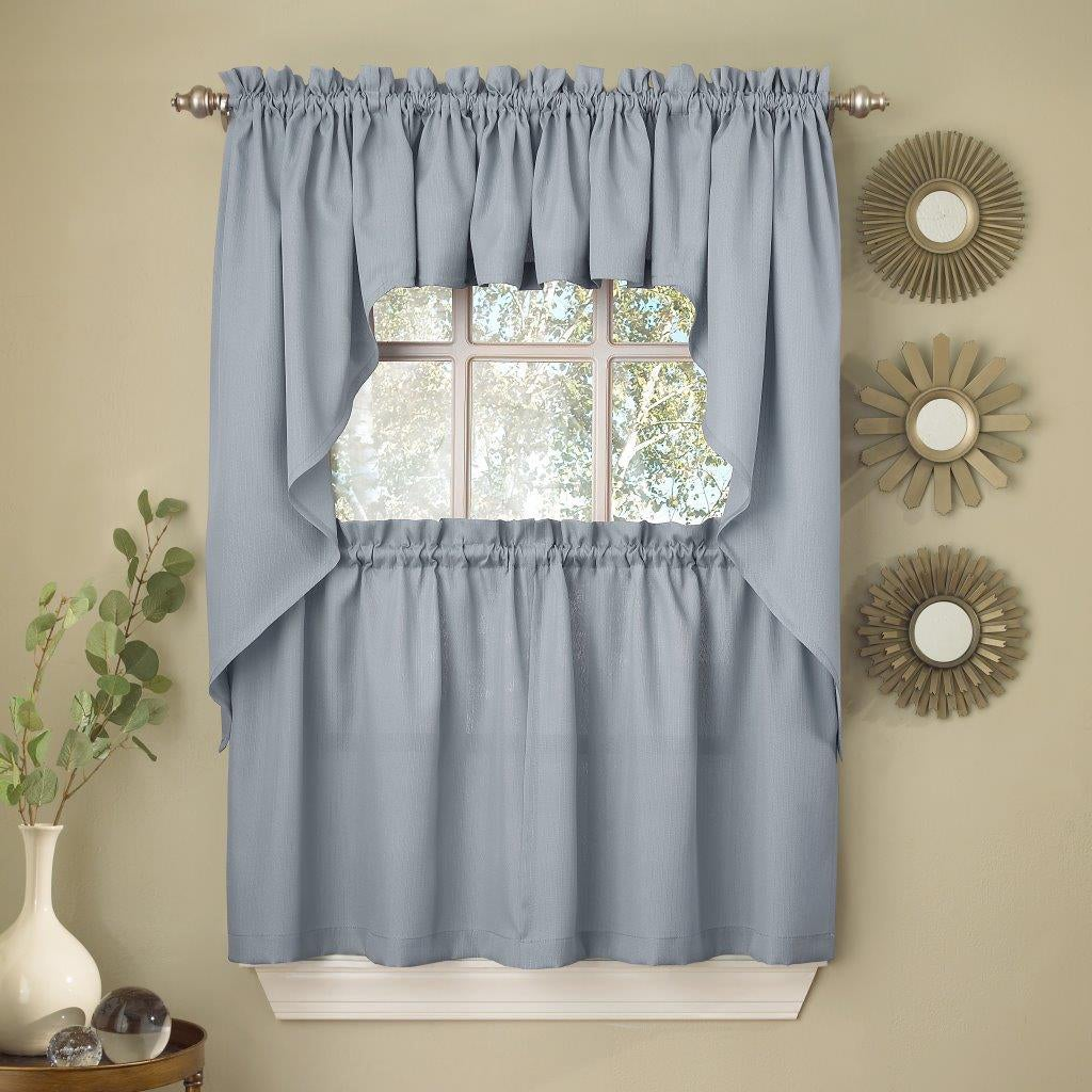 Opaque Ribcord Kitchen Curtain Pieces - Tiers/ Valances/ Swags ...