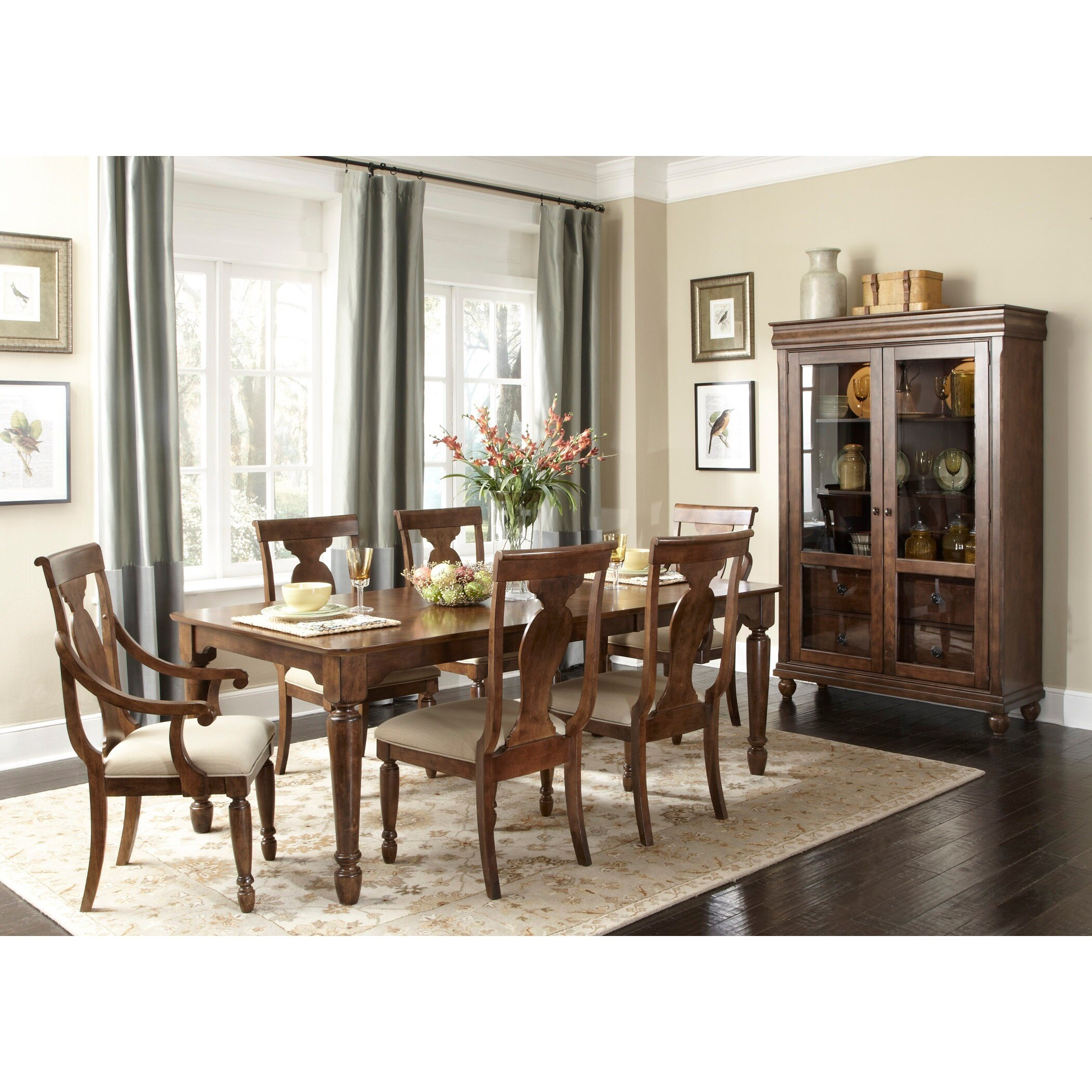 Awesome Shop Rustic Tradition Cherry Display Cabinet   Free Shipping Today    Overstock.com   10030084
