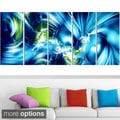 Design Art 'Green and Blue Shine' Contemporary Canvas Art
