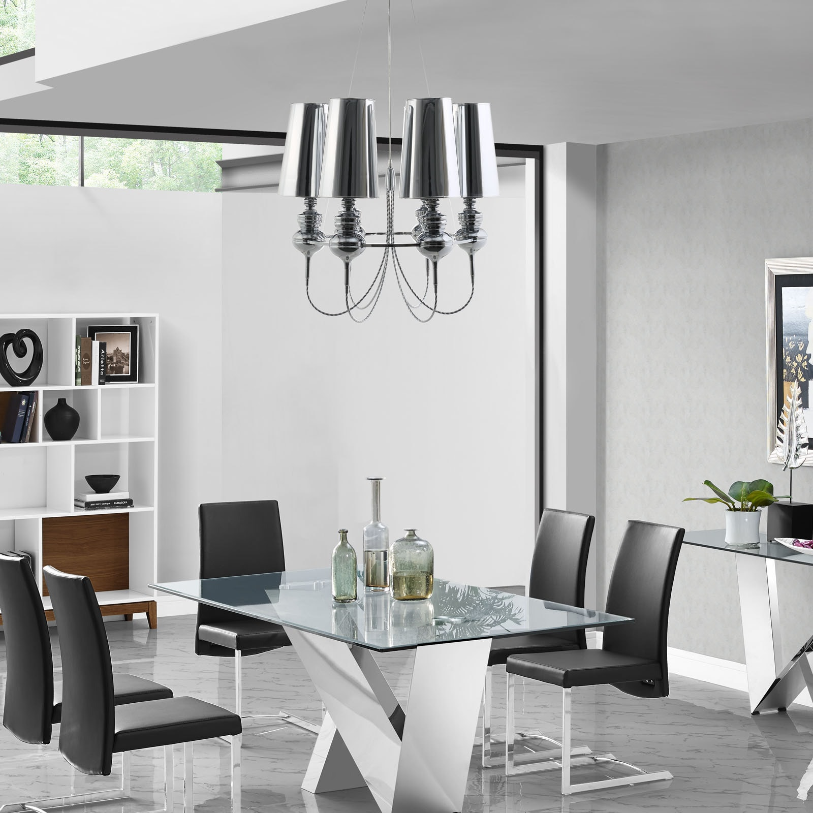 Shop Tapestry Stainless Steel Chandelier - Free Shipping Today ...