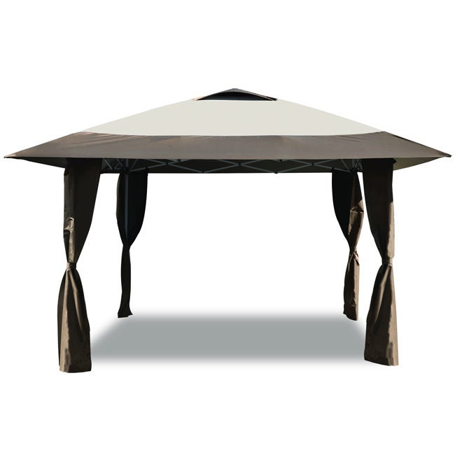 Caravan Canopy Haven 12.7-foot Brown/ Beige Instant Canopy - Free Shipping Today - Overstock.com - 17175957  sc 1 st  Overstock.com & Caravan Canopy Haven 12.7-foot Brown/ Beige Instant Canopy - Free ...