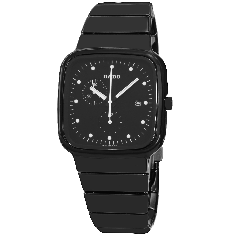 16fa01aeed9e Rado Men s  R5.5  Black Dial Black Matte Ceramic Chronograph Swiss Quartz  Watch